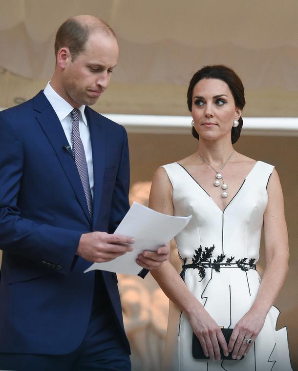 Książę William i księżna Kate na przyjęciu w Łazienkach Królewskich