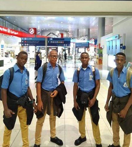 Four boys from St John's Science and Technical College in Anambra State win the Bronze Medal at the International Festival of Engineering, Science and Technology  (twitter/falexbaba)