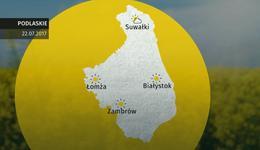 Prognoza pogody dla woj. podlaskiego - 22.07