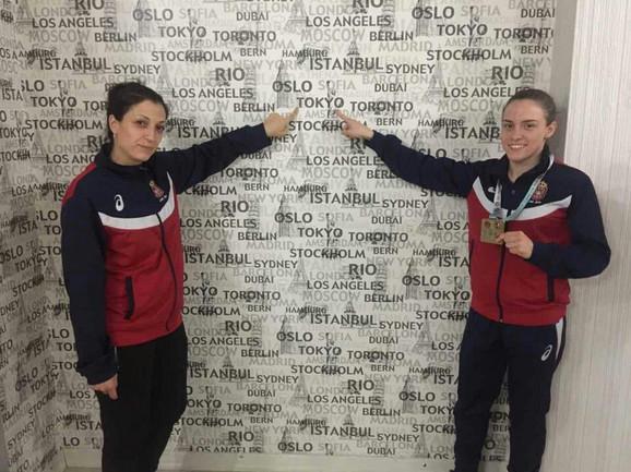 Jovana Preković i trener Roksanda Atanasov