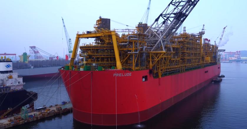 Oto największa dryfująca jednostka na świecie - FLNG Prelude należąca do Dutch Royal Shell