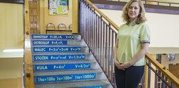 Edukacyjne schody w Luboniu