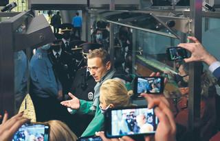 Nawalny zatrzymany po powrocie do Rosji