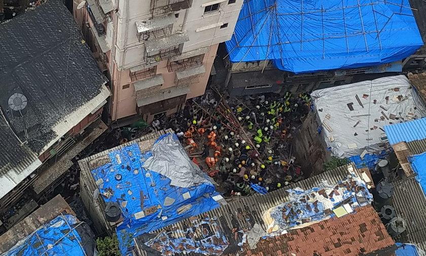 W Indiach zawalił się budynek