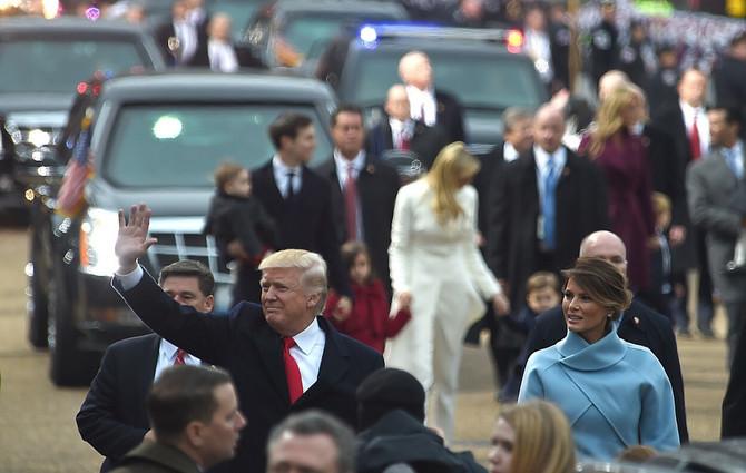 Melanija Tramp na inauguraciji
