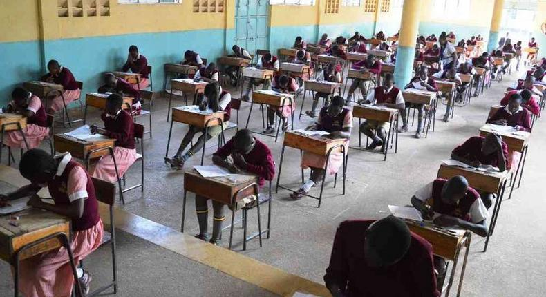 Candidates sitting for their  national examinations