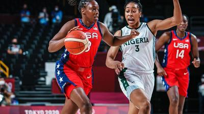 Nigeria women's basketball team loses to the United States in their first Tokyo Olympics' game