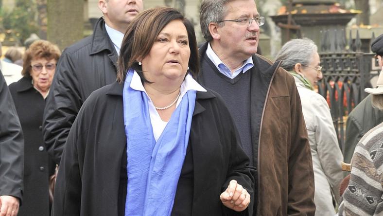 Anna Komorowska na warszawskich Powązkach.