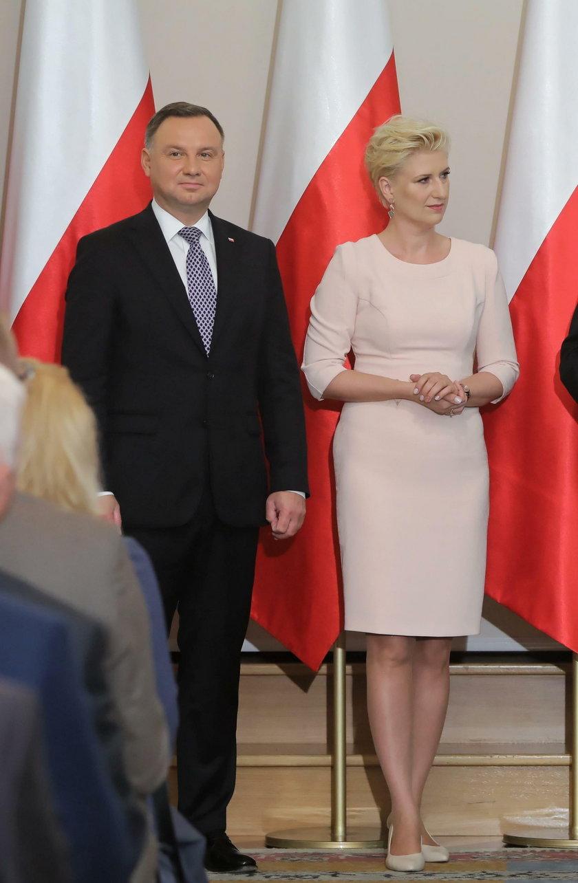 Prezydent Andrzej Duda i prezes KRUS Aleksandra Hadzik