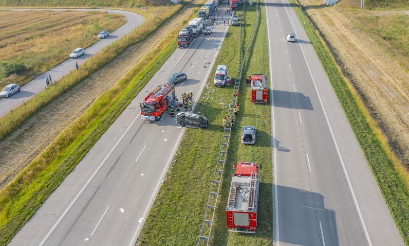 Groźny wypadek na A1 w kierunku Gdańska
