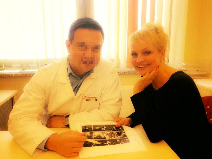 Adrianna Biedrzyńska w szpitalu