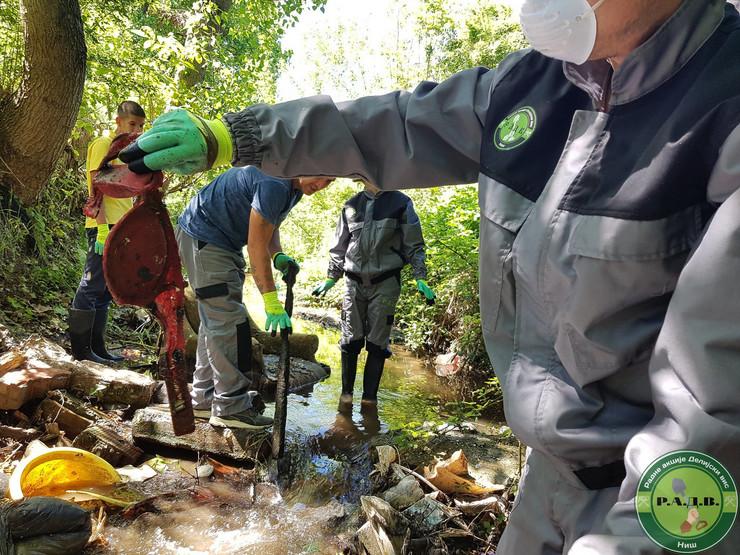 Akcija čišćenja Gabrovačke reke, Radne akcije Delijaki Vis, Niš