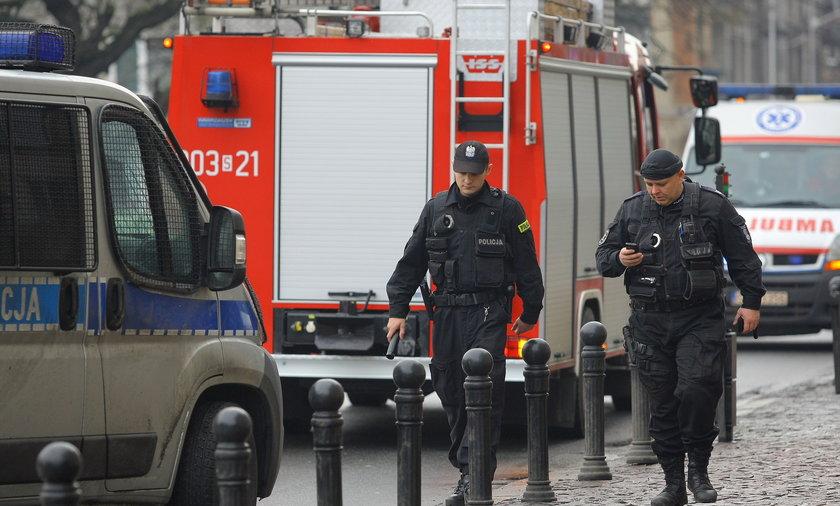Alarm bombowy w urzędzie w Katowicach.