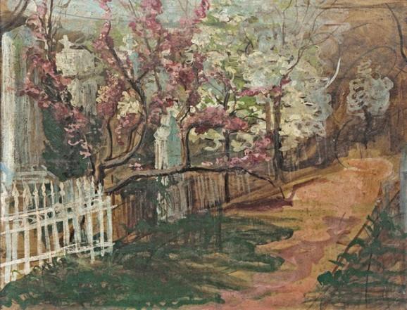 "Nadežda Petrović, ""Staro groblje"", 1904. iz Legata Milice Zorić i Rodoljuba Čolakovića u kolekciji MSUB"