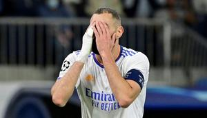 Karim Benzema scored but ened up on the losing side