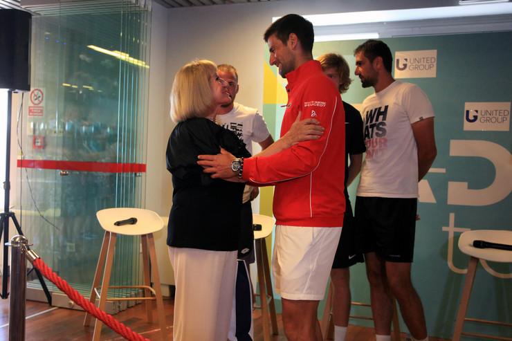 Novak Đoković i Biserka Petrović