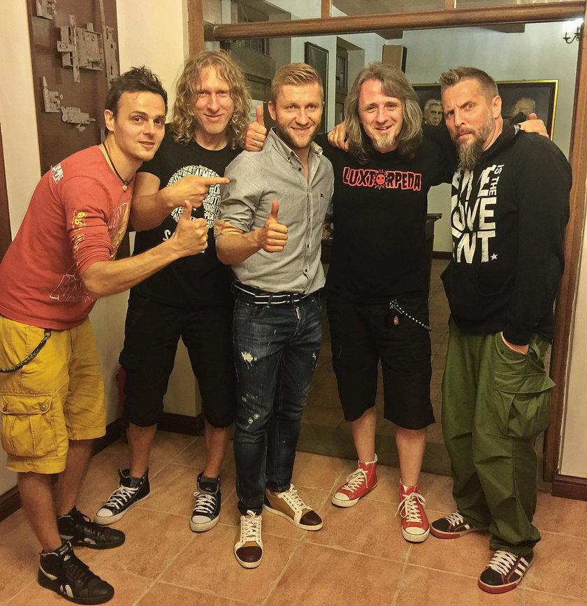 Jakub Błaszczykowski fanem zespołu Luxtorpeda? Oto ich wspólne zdjęcie
