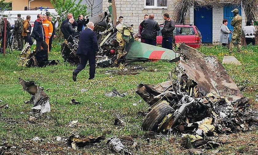 Katastrofa lotnicza pod Baranowiczami na Białorusi.