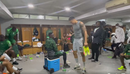 Watch Super Eagle celebrate in the dressing room after one of their latest win (Facebook/Super Eagles)