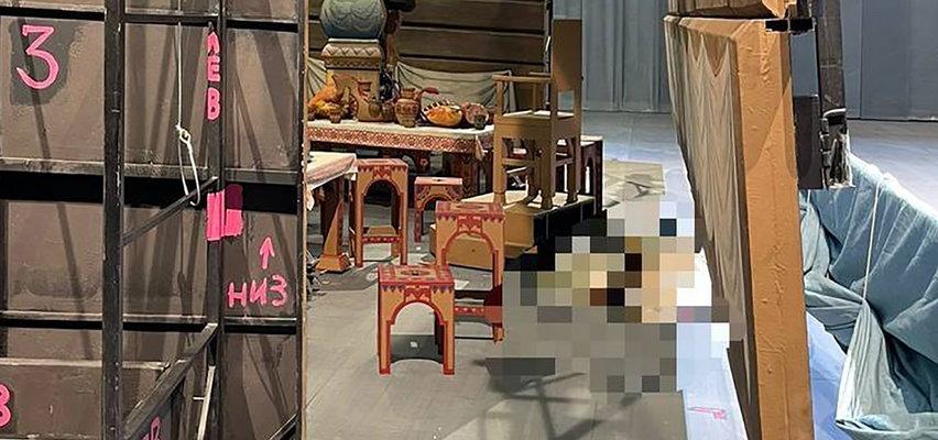 Upiorne przedstawienie w słynnym teatrze. Aktor zginął na miejscu, zmiażdżony podczas wymiany dekoracji