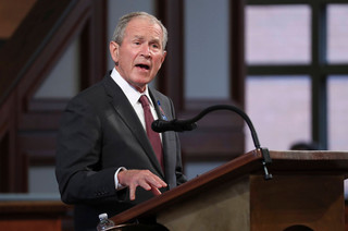 Były prezydent George Bush pogratulował wygranej Bidenowi i Harris
