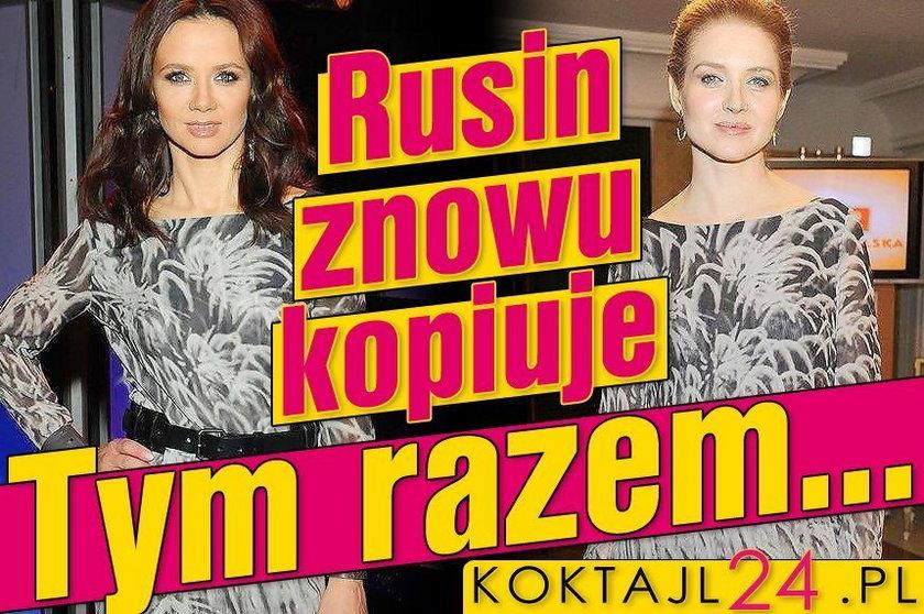 Rusin jak Grabowska. W sukience Jemioła