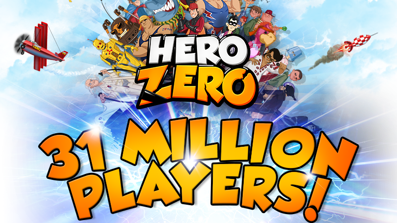 Hero Zero - Logo: 31 MLN Graczy