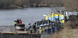 Prąd Odry zepchnął trzy jednostki w dół rzeki