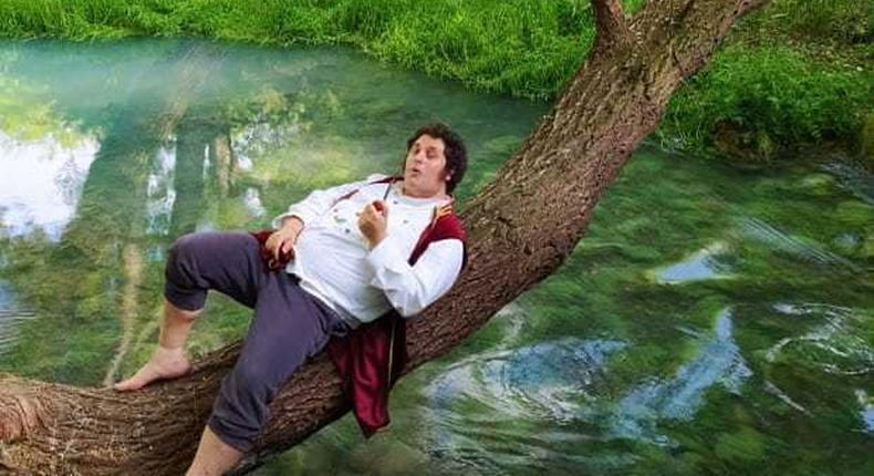 Nicolas Gentile, 37, has lived like a hobbit on two-hectares of land in the Italian countryside for over a year.