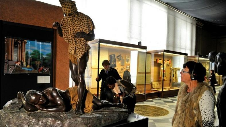 Belgium's Africa Museum, pictured in 2013 before its five-year restoration that curators hope will bury its reputation as a colonialist holdover