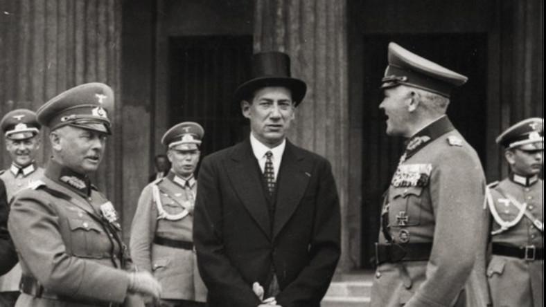 Werner von Fritsch, Józef Beck i Werner von Blomberg w Berlinie, lipiec 1935 r.