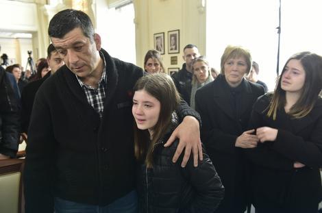 Slađanina porodica na komemoraciji u Ministarstvu spoljnih poslova u Beogradu