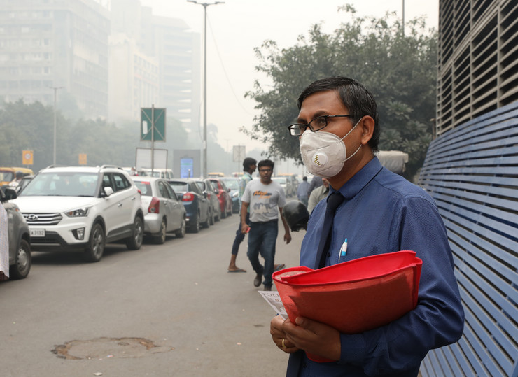 indija, nju delhi, zagađenje
