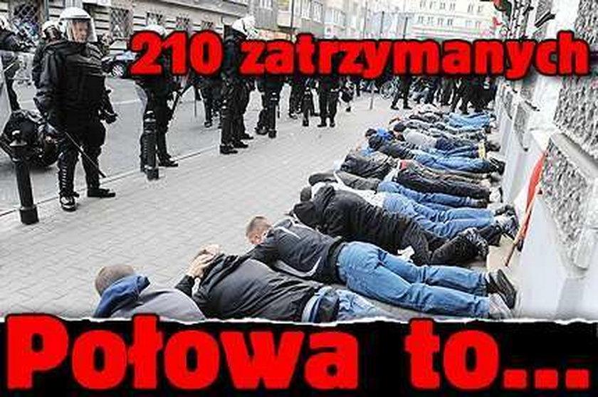 210 zatrzymanych. Połowa to...