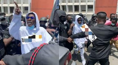 'I want to go to jail' - angry Shatta Wale tells critics whilst leaving court (WATCH)