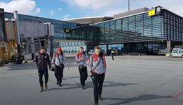Awaryjne lądowanie samolotu z mistrzami Polski