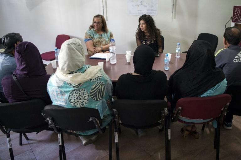 The Association for the Fight Against AIDS organises workshops for HIV patients in Morocco