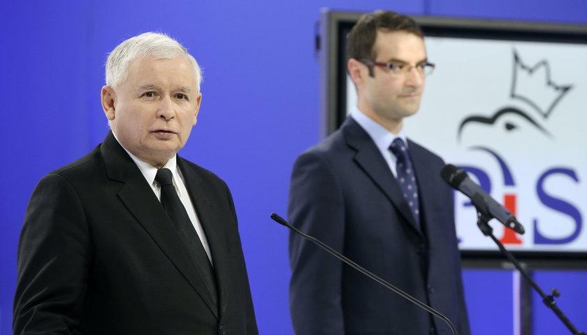 Jarosław Kaczyński i Tomasz Poręba