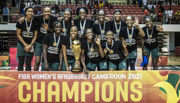 D'Tigress of Nigeria win the Women's AfroBasket title for a third time in a row (FIBA)