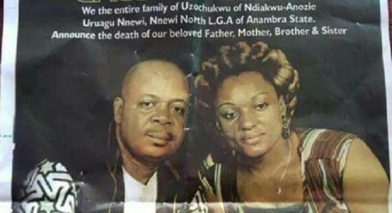 The late Jonas and Chinyere Uzochukwu