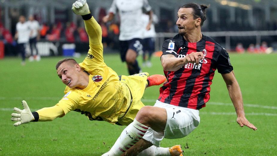 Łukasz Skorupski i Zlatan Ibrahimović