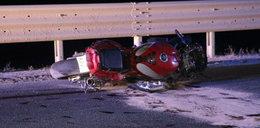 Śmiertelny wypadek motocyklisty. Wyprzedzał na podwójnej ciągłej