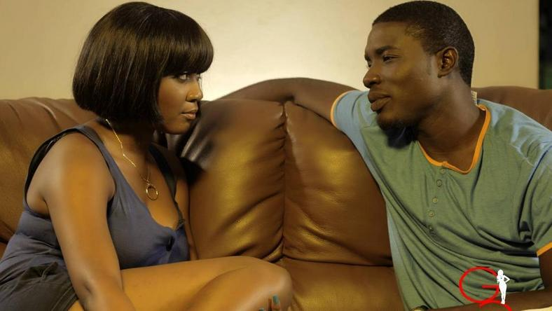 "Toni Tones and Seun Ajayi on set of ""Gidi Culture""."