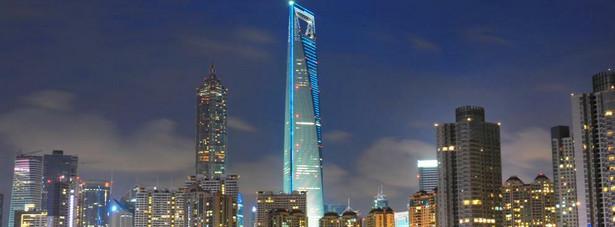 Shanghai World Financial Center w Chinach, którego wysokość wynosi 492 metry.