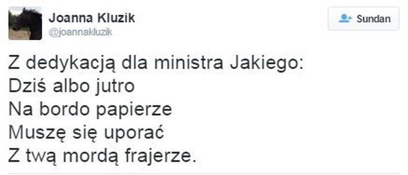 Mocna odzywka byłej minister na Twitterze