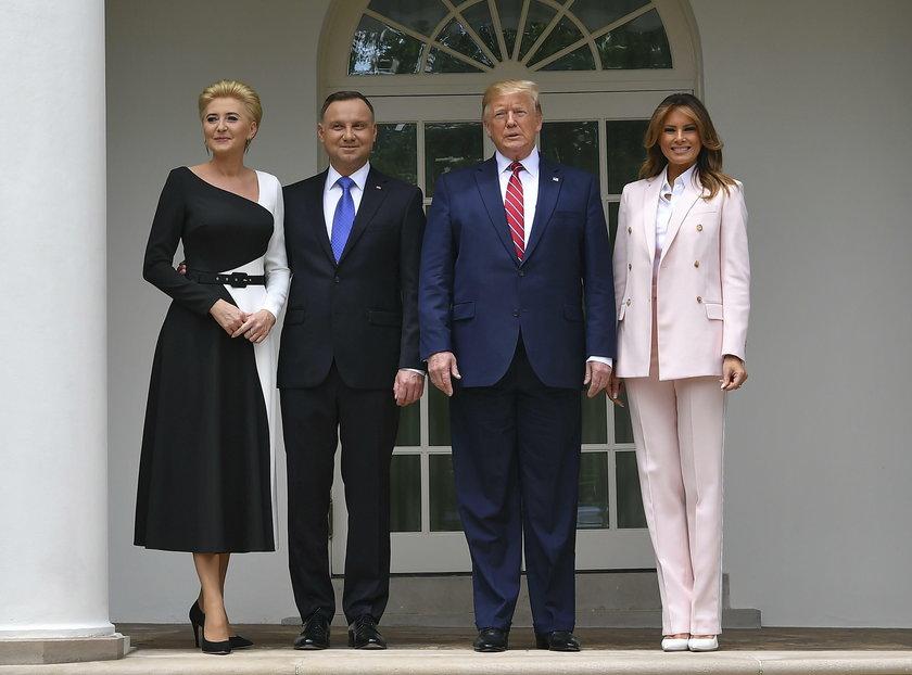 Andrzej Duda w trakcie wizyty u prezydenta Donalda Trumpa