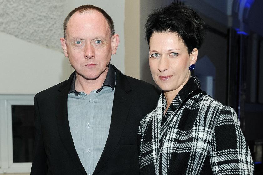 Paweł Burczyk z żoną