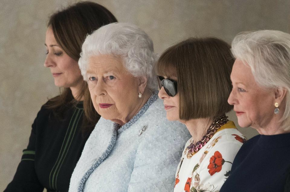Królowa Elżbieta II i Anna Wintour