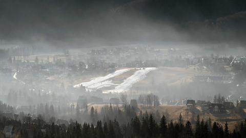 Zasnuta smogiem Gubałówka. Zdjęcie z 30.01.2015 r.