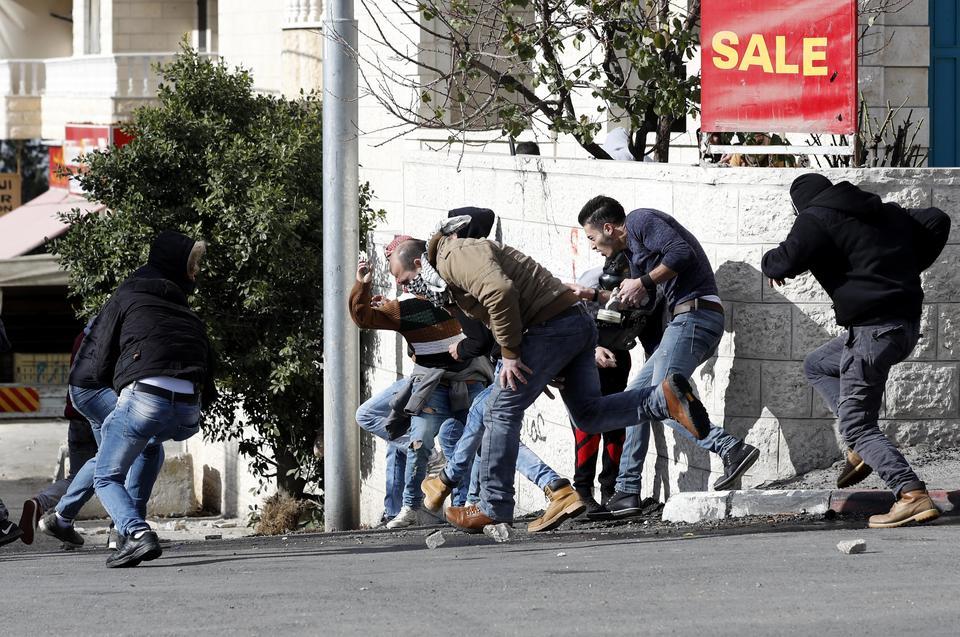 Starcia w Betlejem i Ramallah po decyzji Trumpa ws. Jerozolimy [ZDJĘCIA]